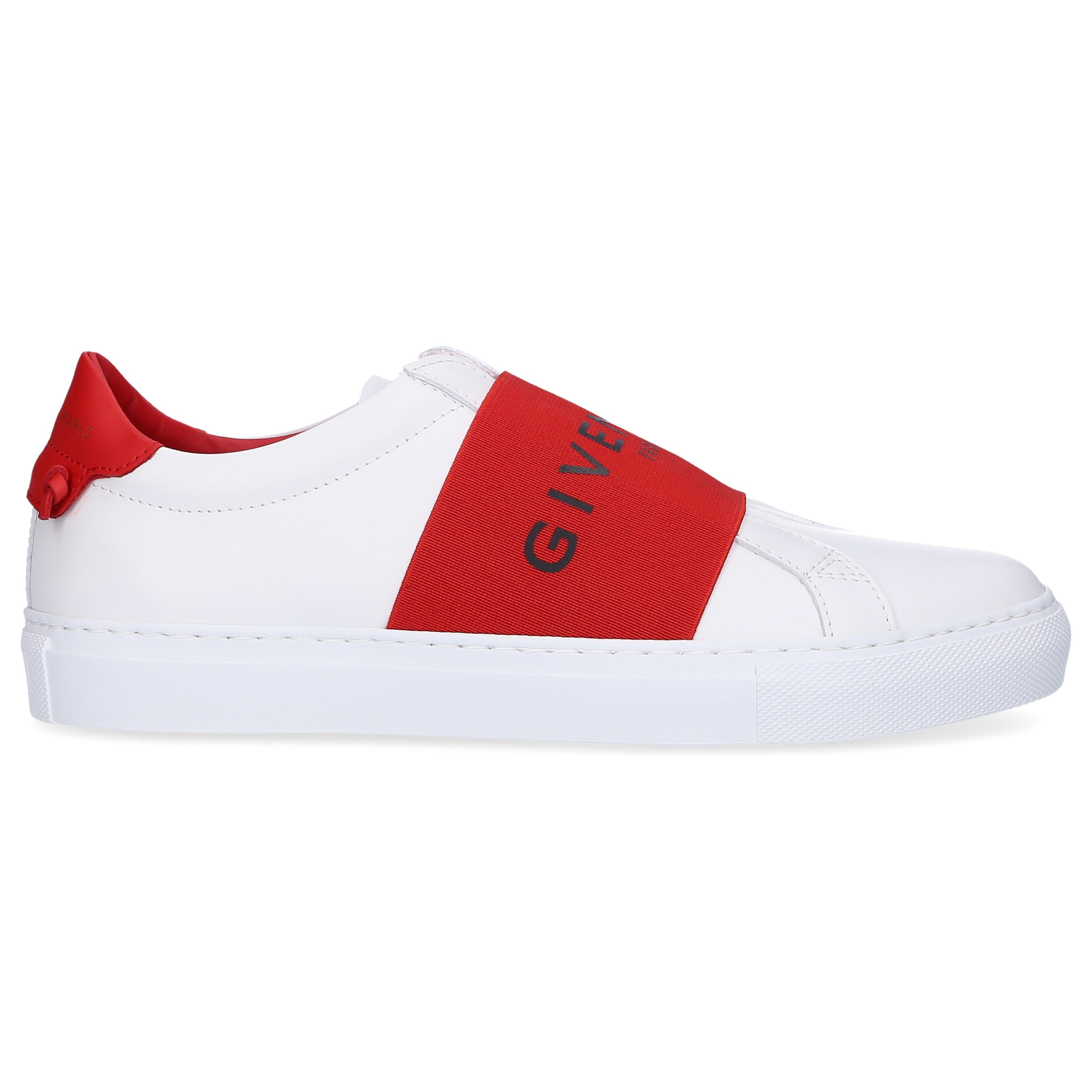 6f39f95fa863 Givenchy Slip Ons 5E01Y Kalbsleder Logo rot weiß